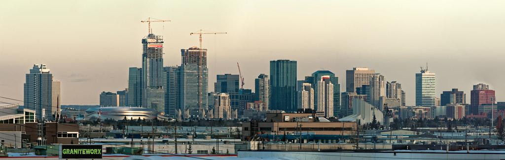 Edmonton's skyline under construction, by Kurt Bauschardt
