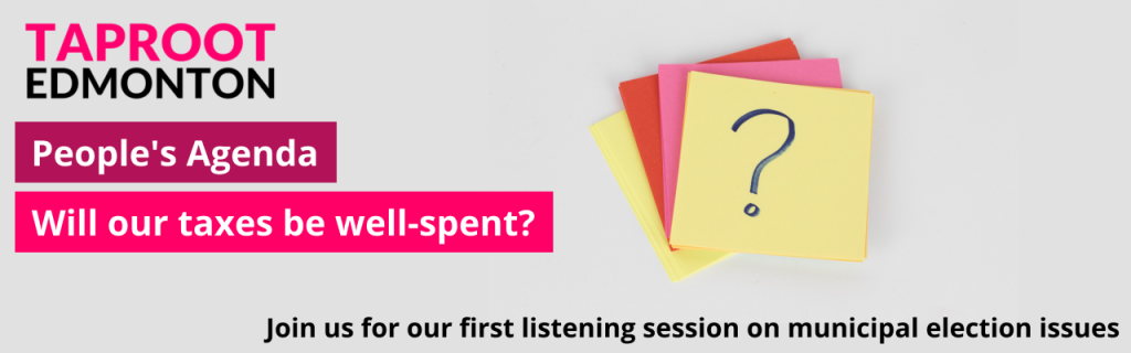 Taproot launches People's Agenda listening sessions